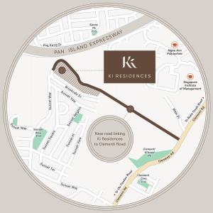 New road linking Ki Residences to Clementi road
