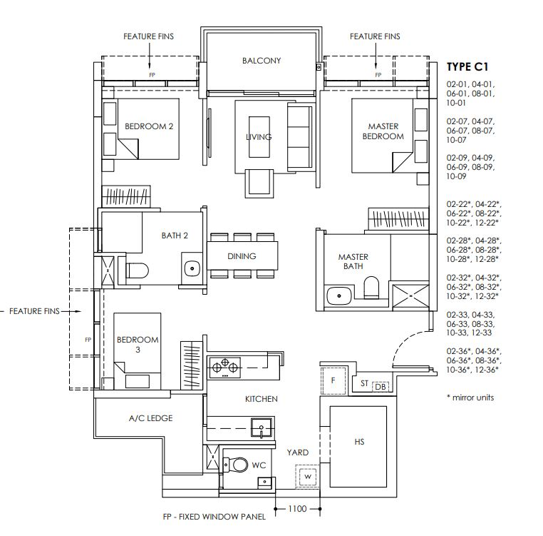 Provence Residence Floor Plan C1