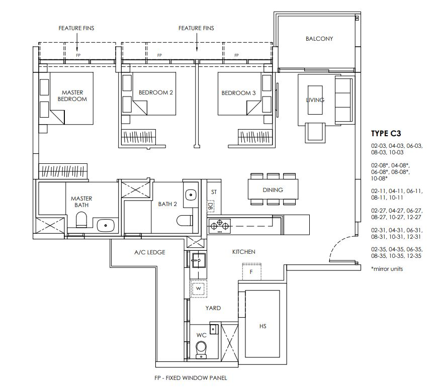 Provence Residence Floor Plan C3