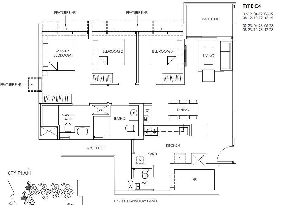 Provence Residence Floor Plan C4