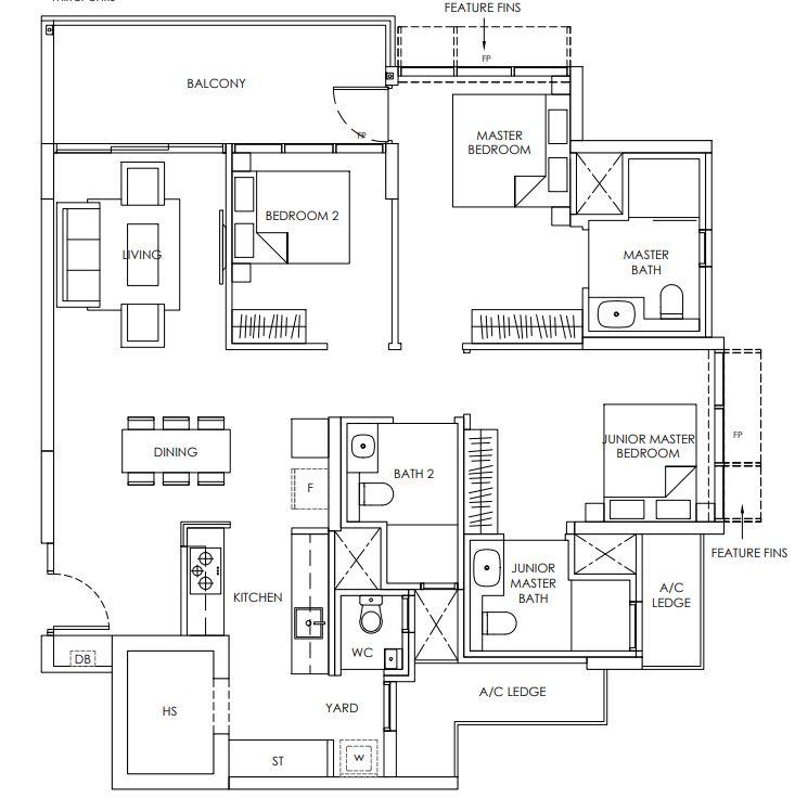 Provence Residence Floor Plan C6