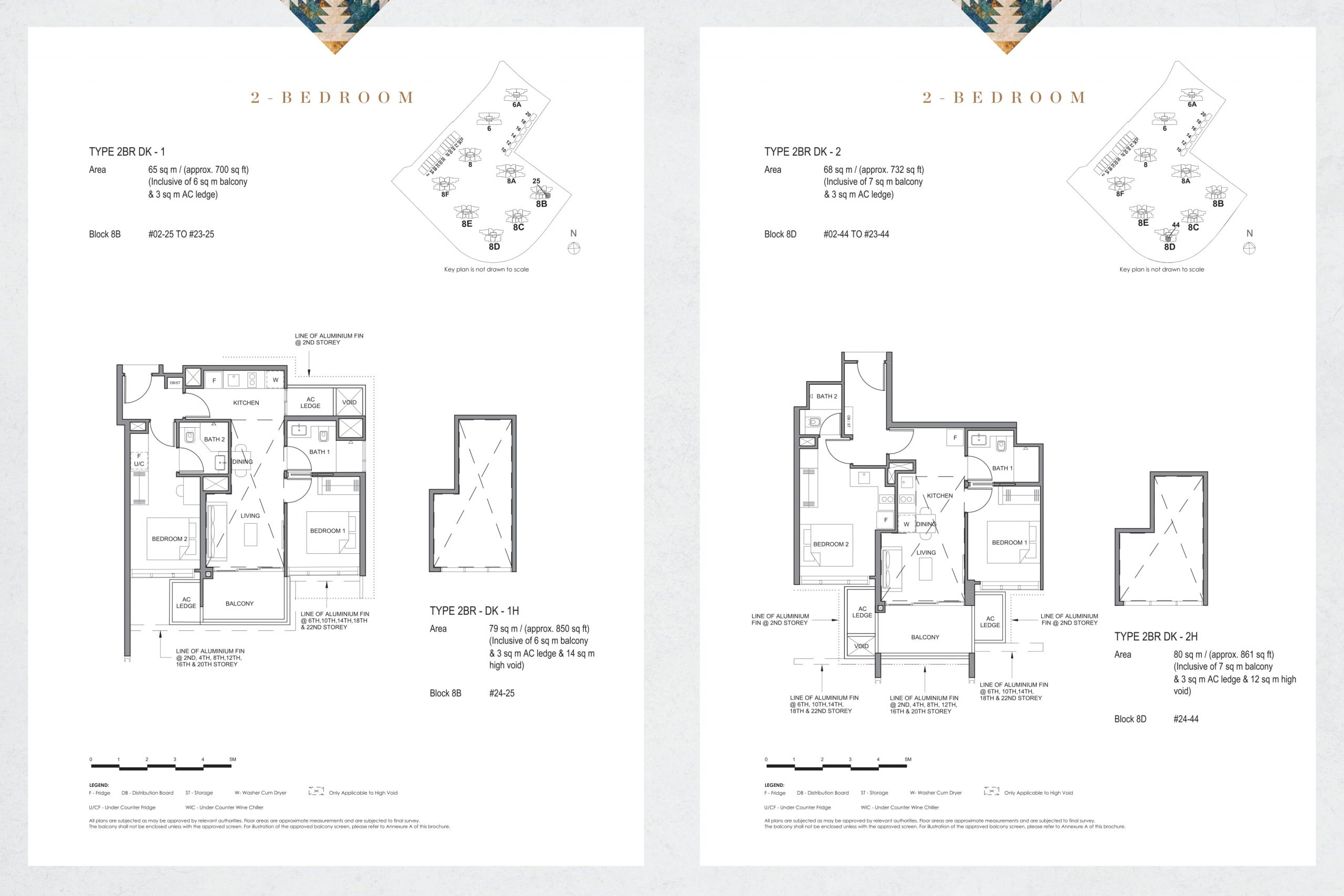Parc Clematis' contemporary two-bedroom types