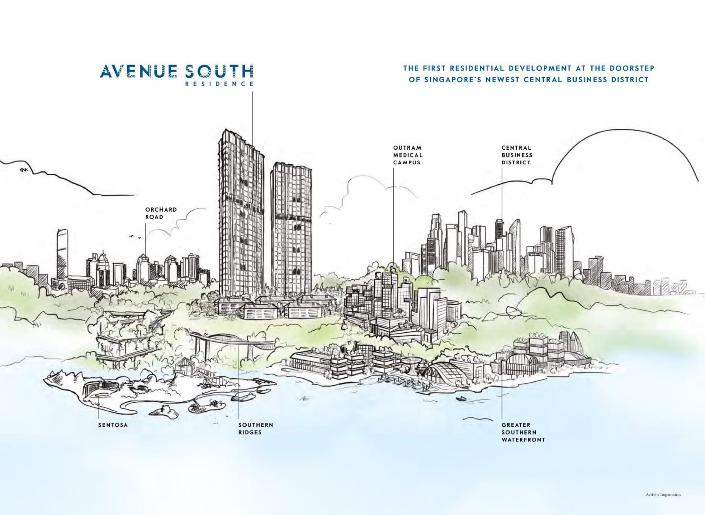 Avenue South Residence's position, site plan, and facilities
