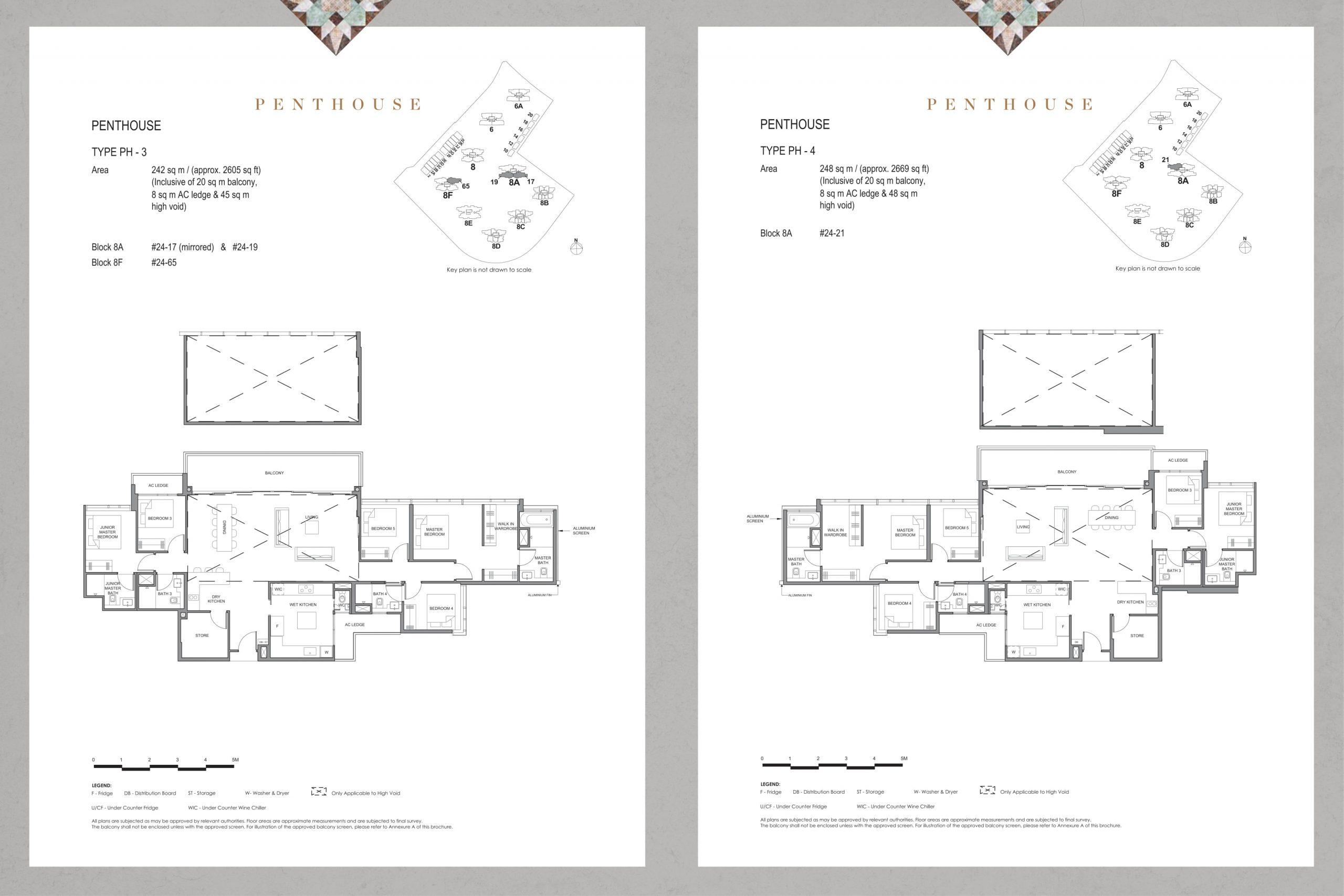 Parc Clematis' elegance penthouse types
