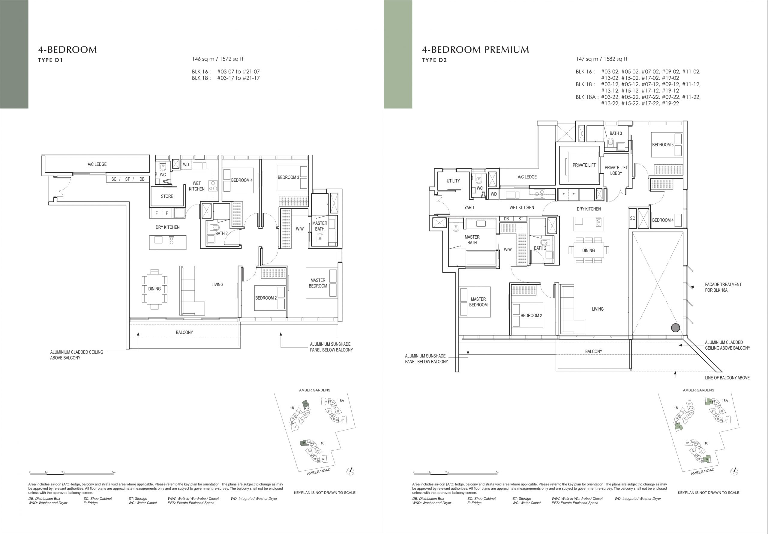 Amber Park's four-bedroom types