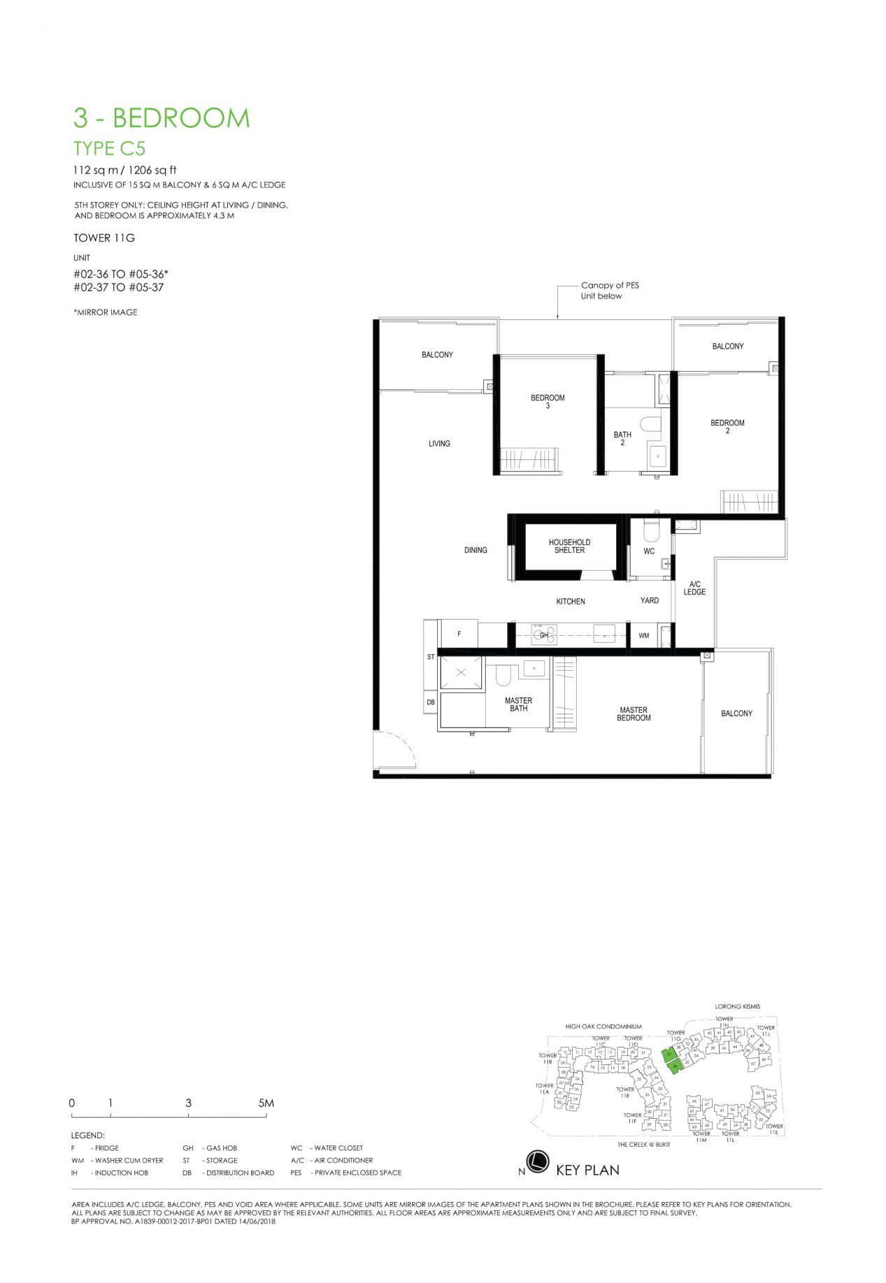 Daintree Residence's three-bedroom types