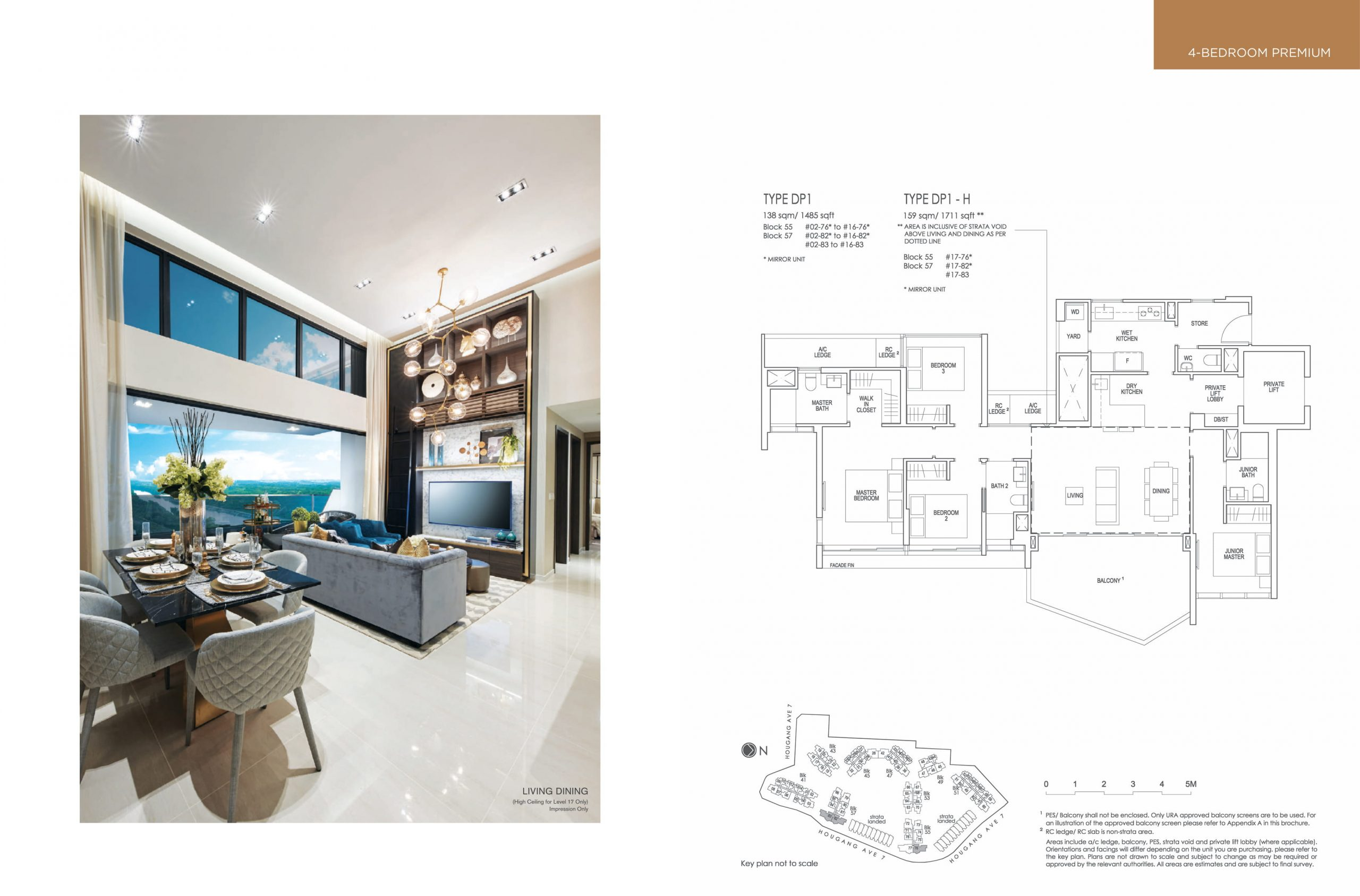The Riverfront Residences' four-bedroom and four-bedroom premium types