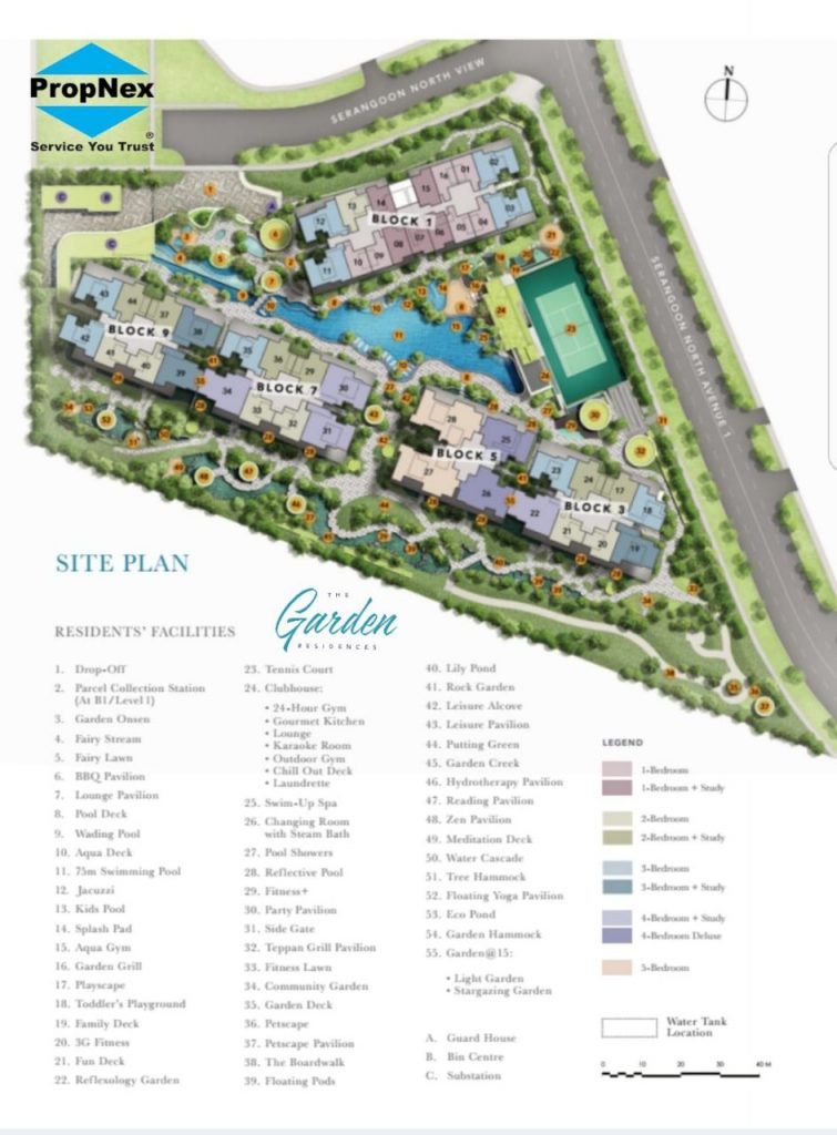 The Garden Site Plan