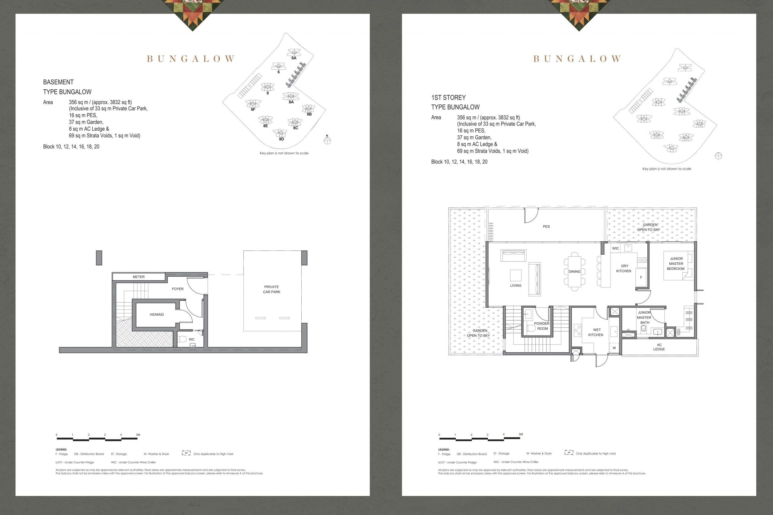 Parc Clematis' masterpiece corner bungalow types