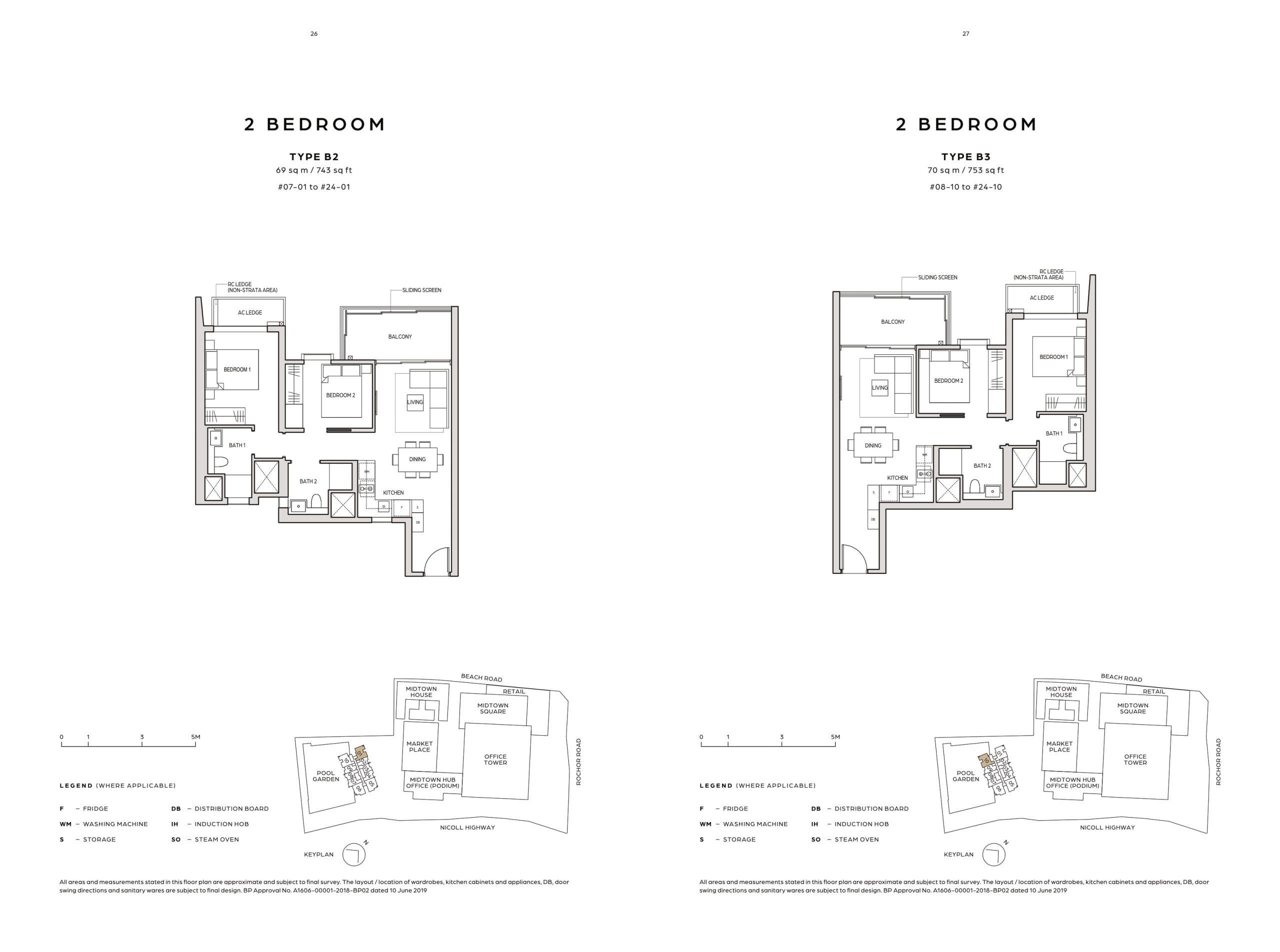 Midtown Bay's two-bedroom types