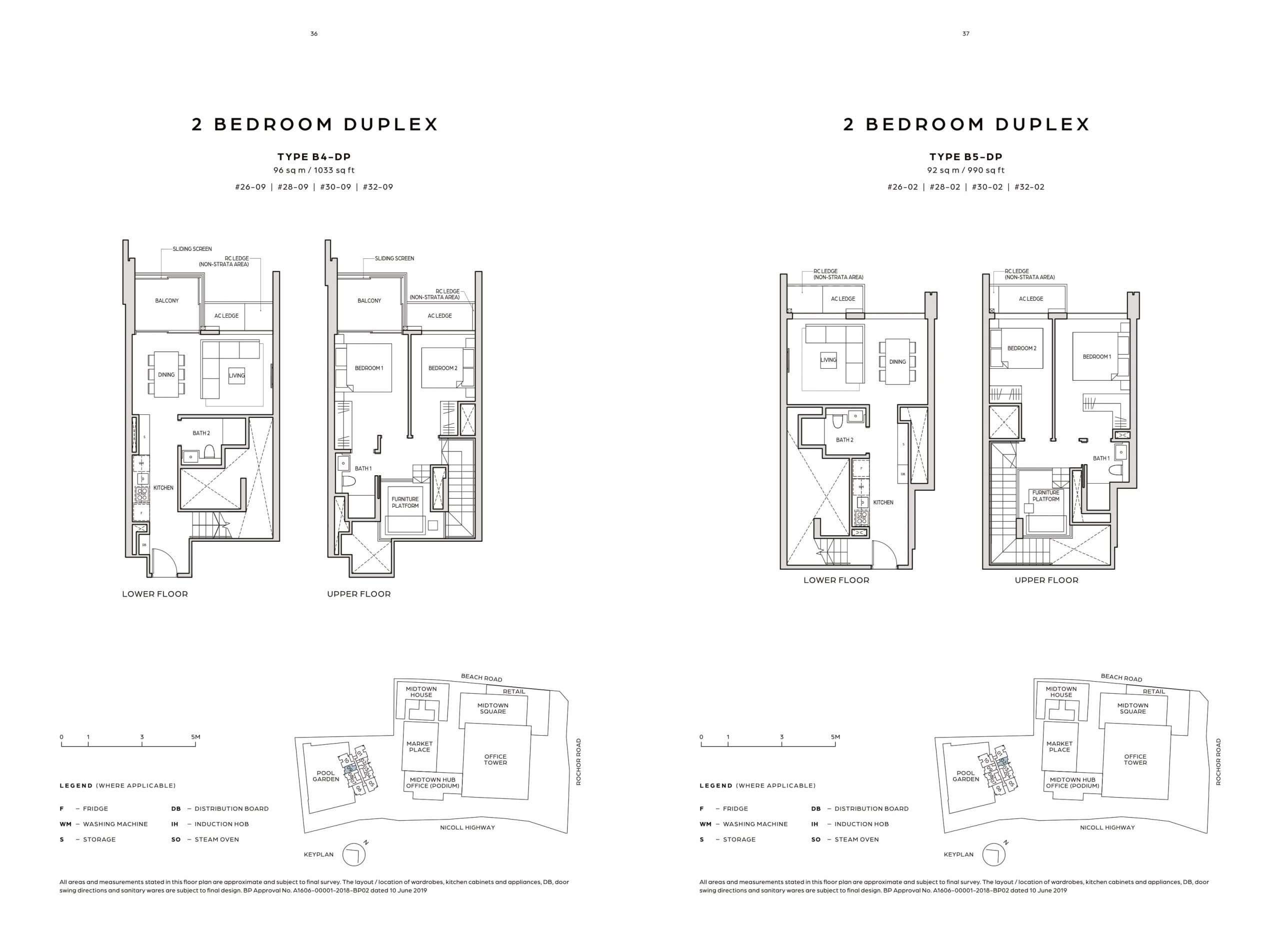 Midtown Bay's two-bedroom duplex types