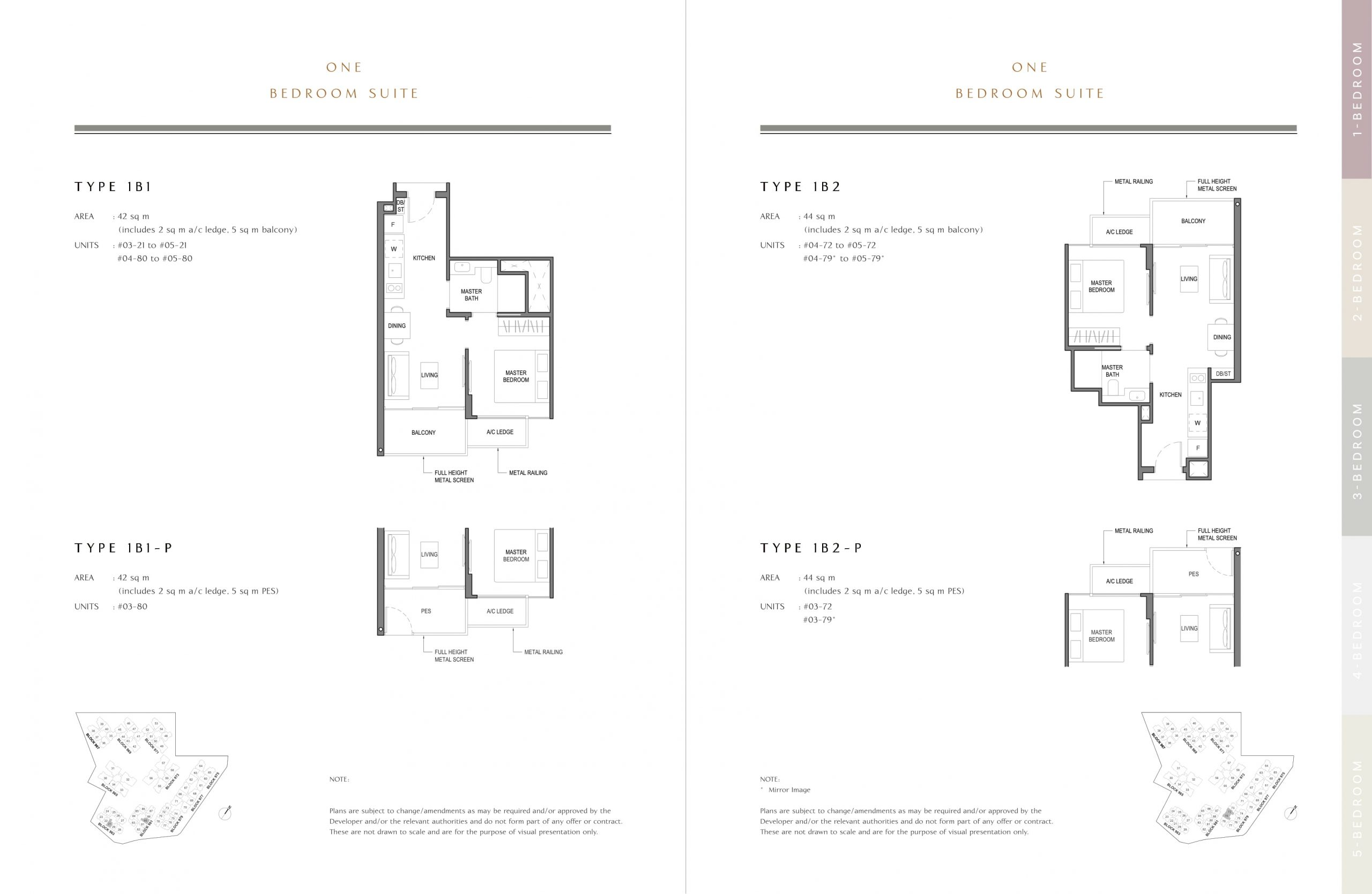 Parc Komo's one-bedroom suite types