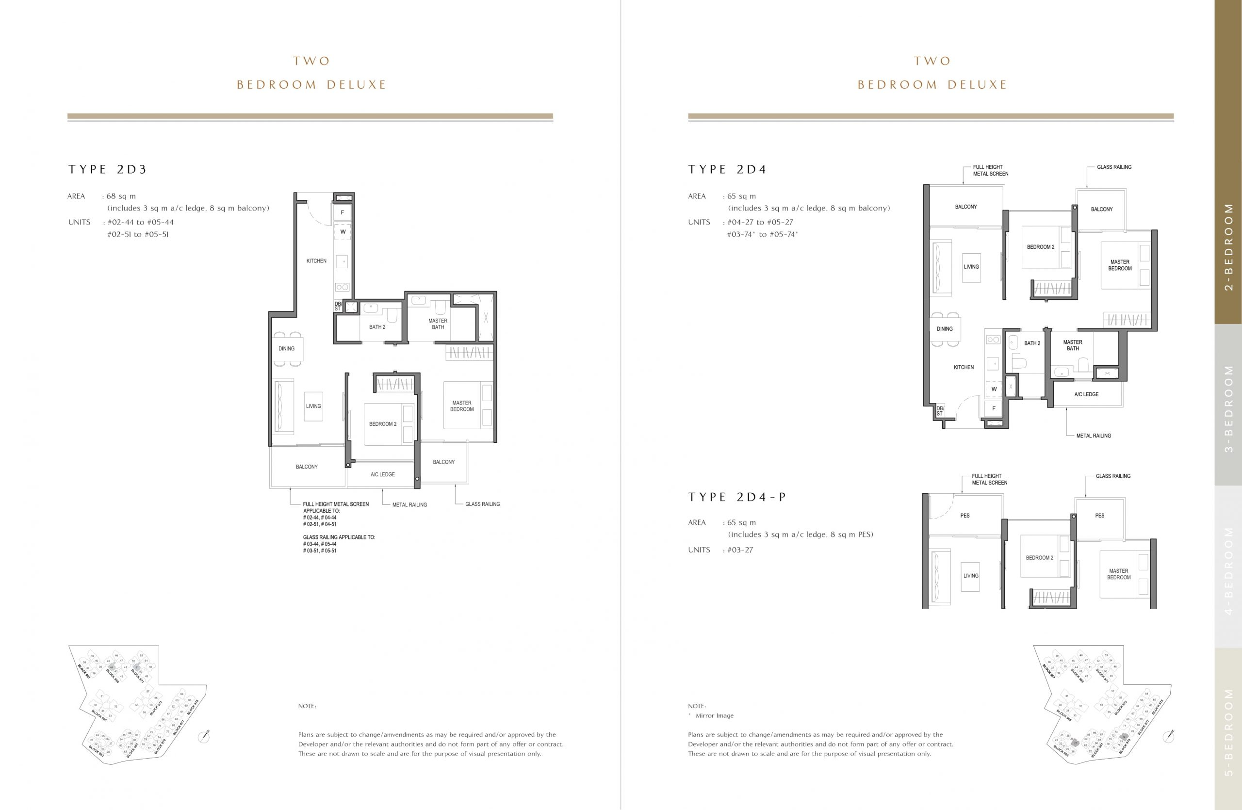 Parc Komo's two-bedroom deluxe types
