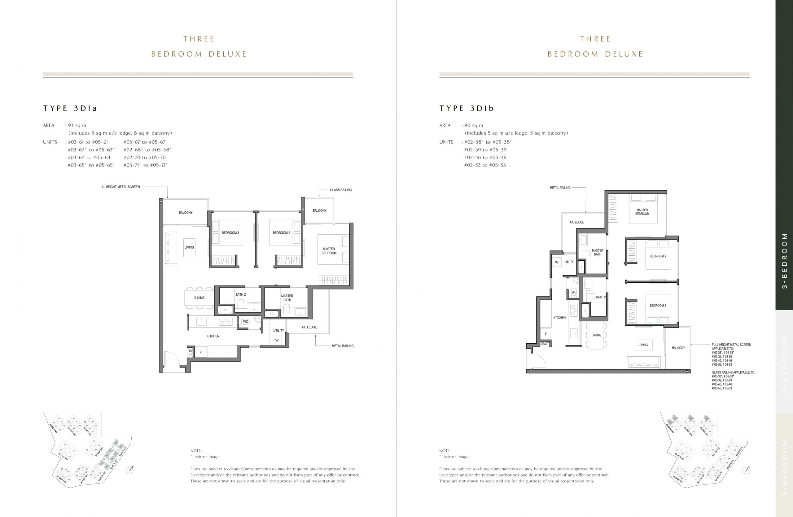 Parc Komo's three-bedroom deluxe types