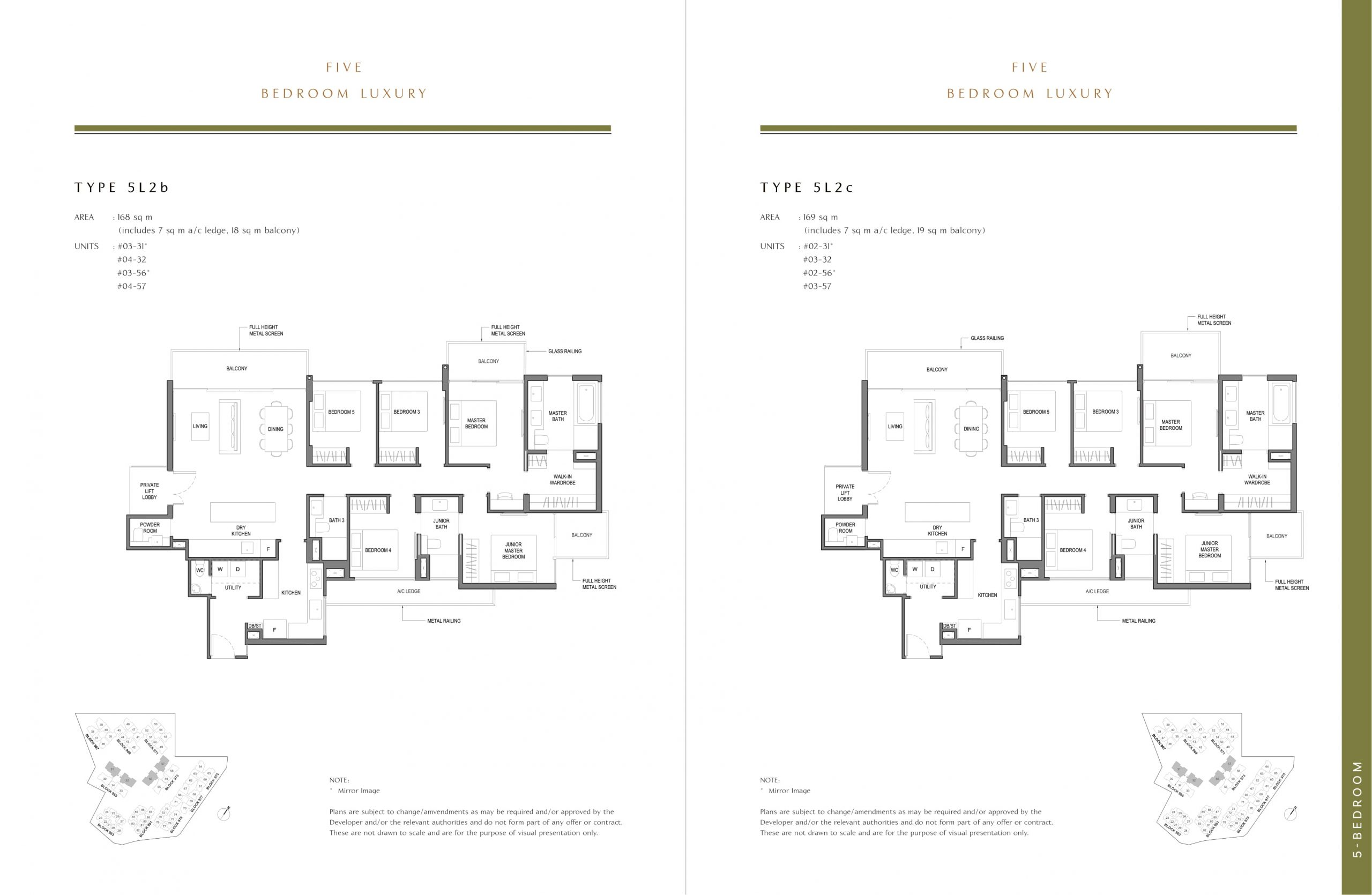 Parc Komo's five-bedroom luxury types
