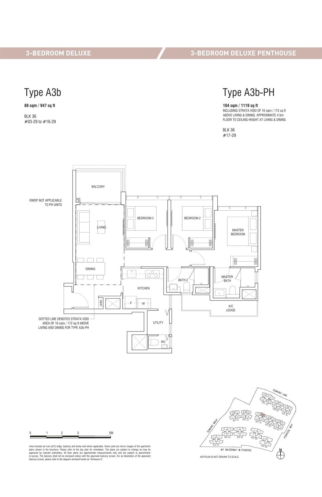 Piermont Grand EC's three-bedroom deluxe and three-bedroom deluxe penthouse types