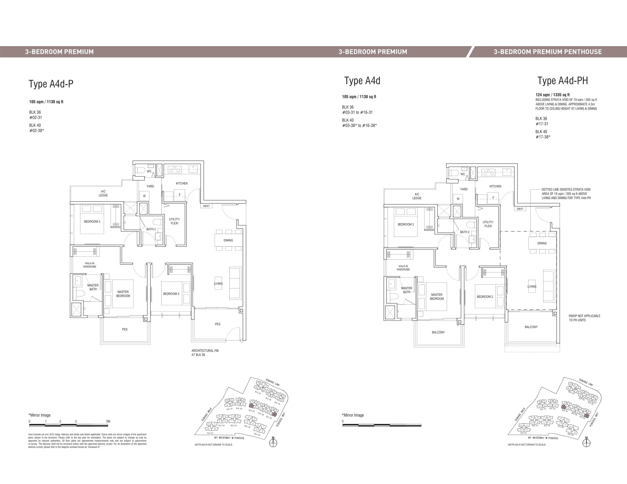 Piermont Grand EC's three-bedroom premium and three-bedroom premium penthouse types