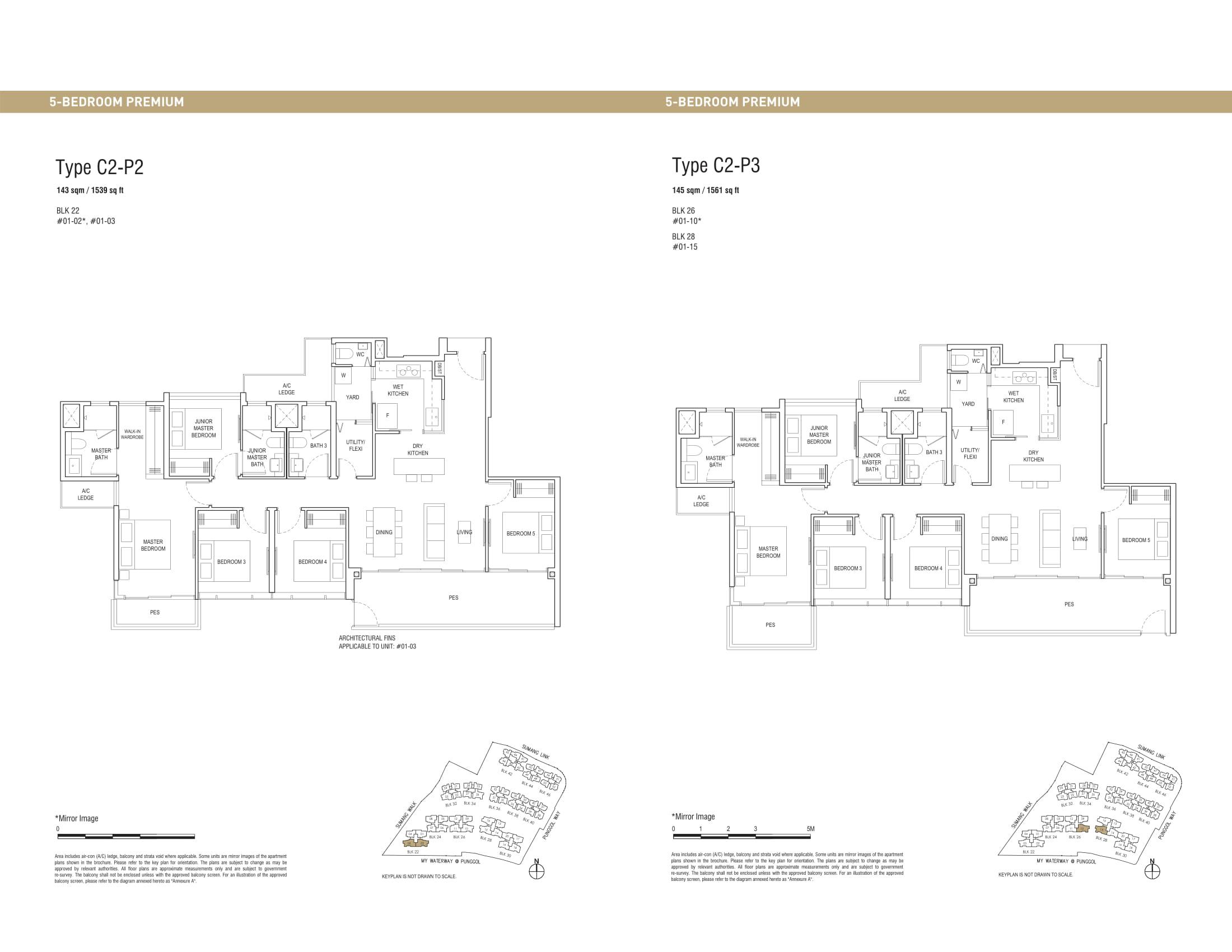 Piermont Grand EC's five-bedroom premium and five-bedroom premium penthouse types