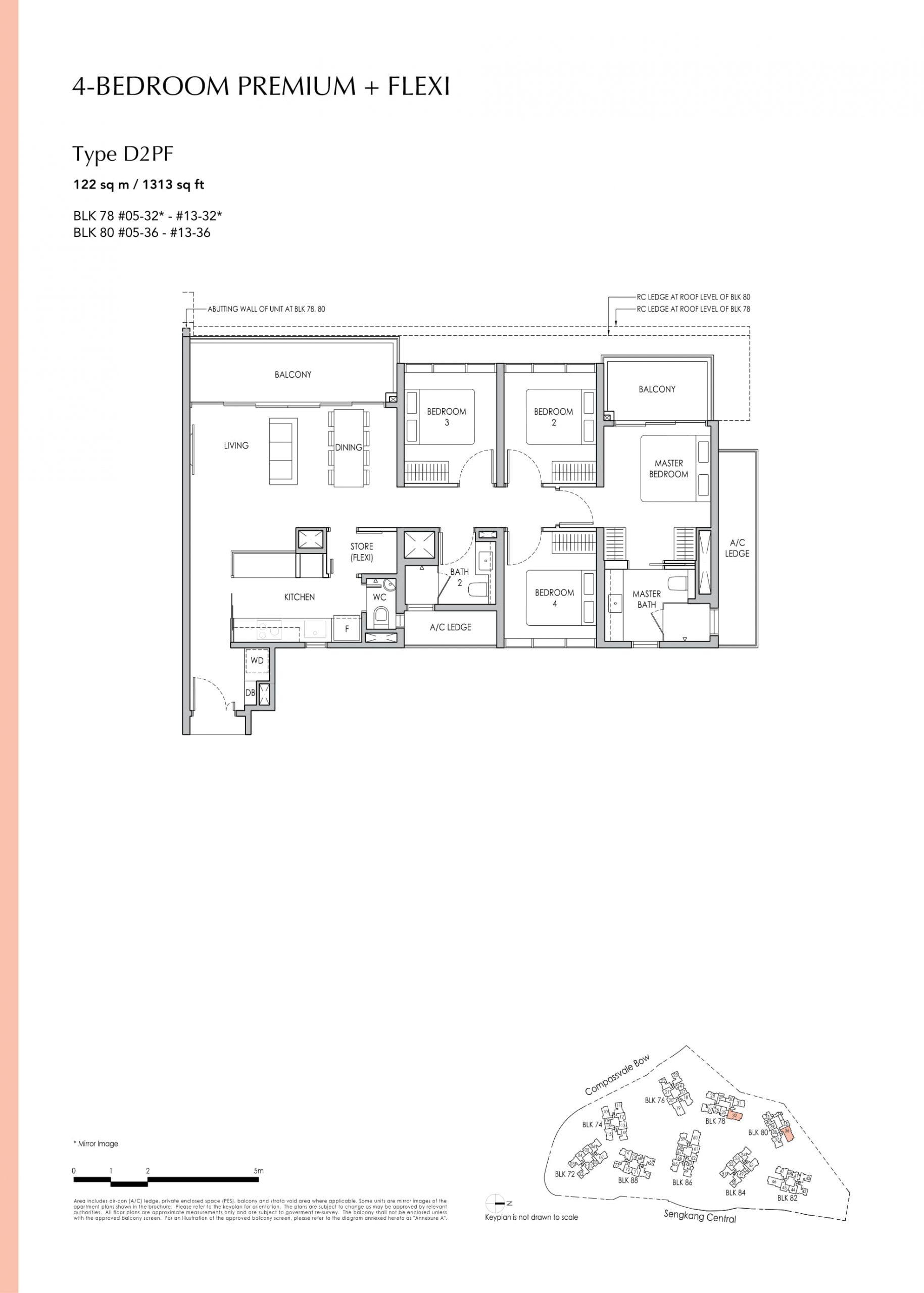 Sengkang Grand Residences' four-bedroom premium + flexi types