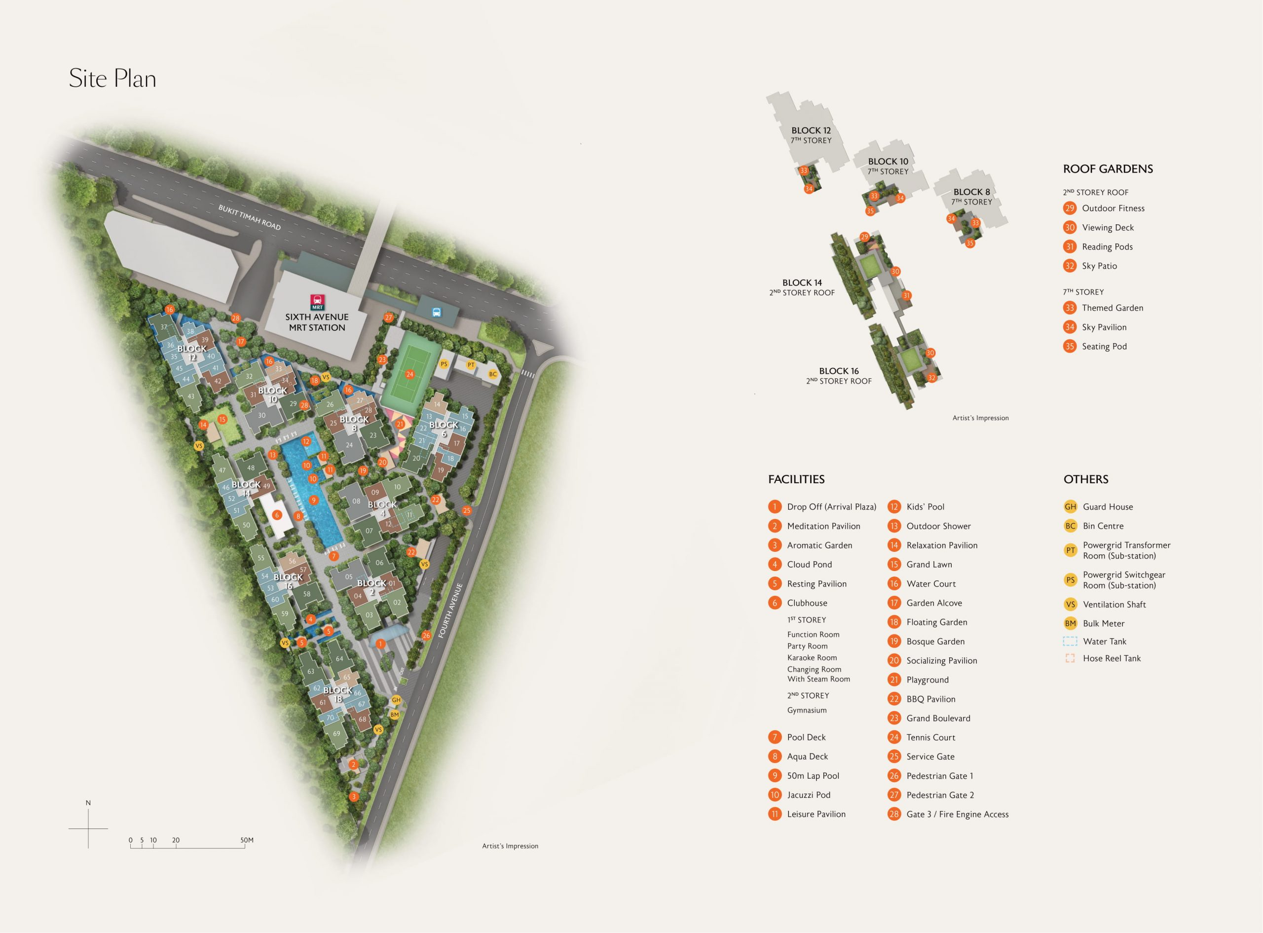 Fourth Avenue Residences' site plan and unit distribution
