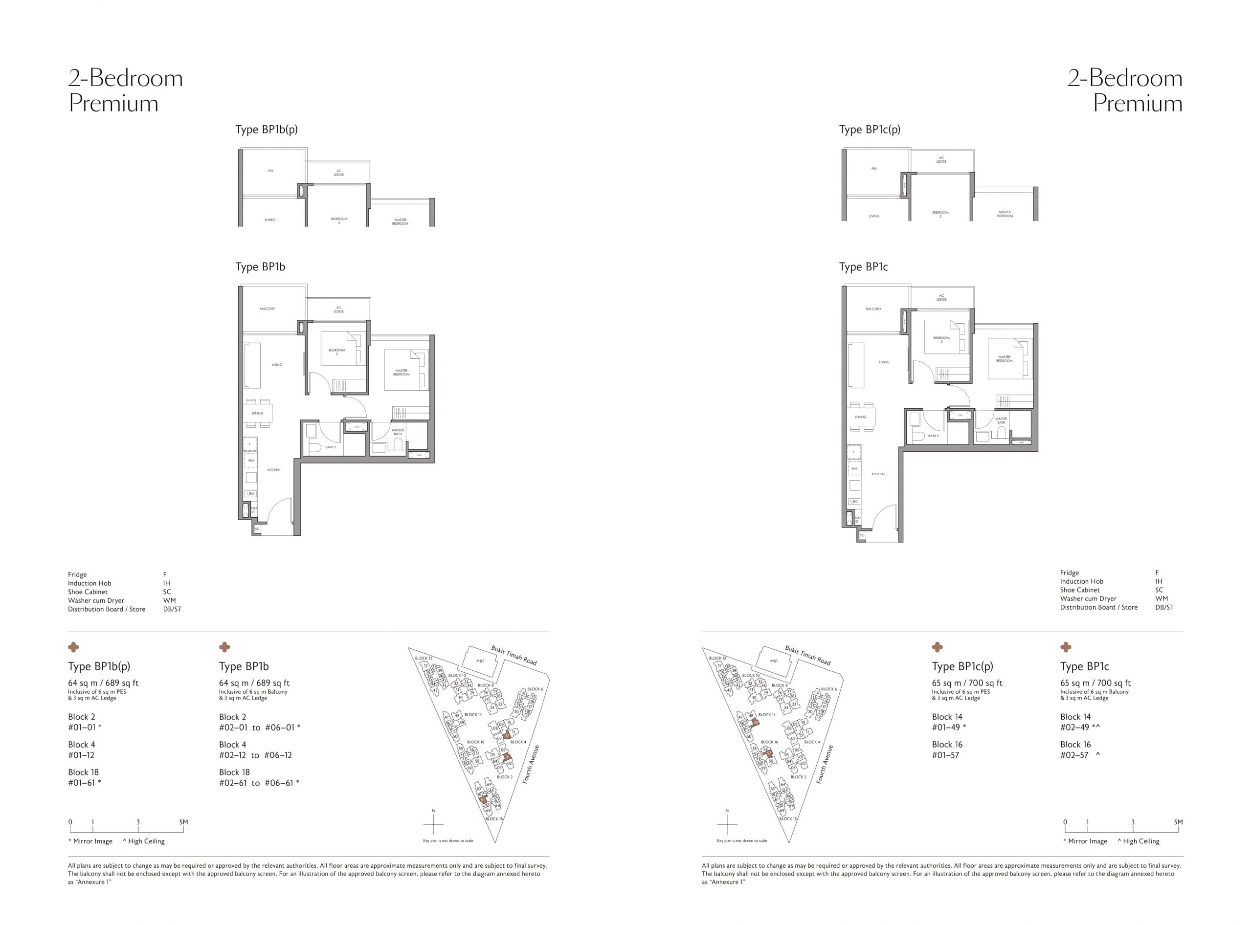 Fourth Avenue Residences' two-bedroom & two-bedroom premium types