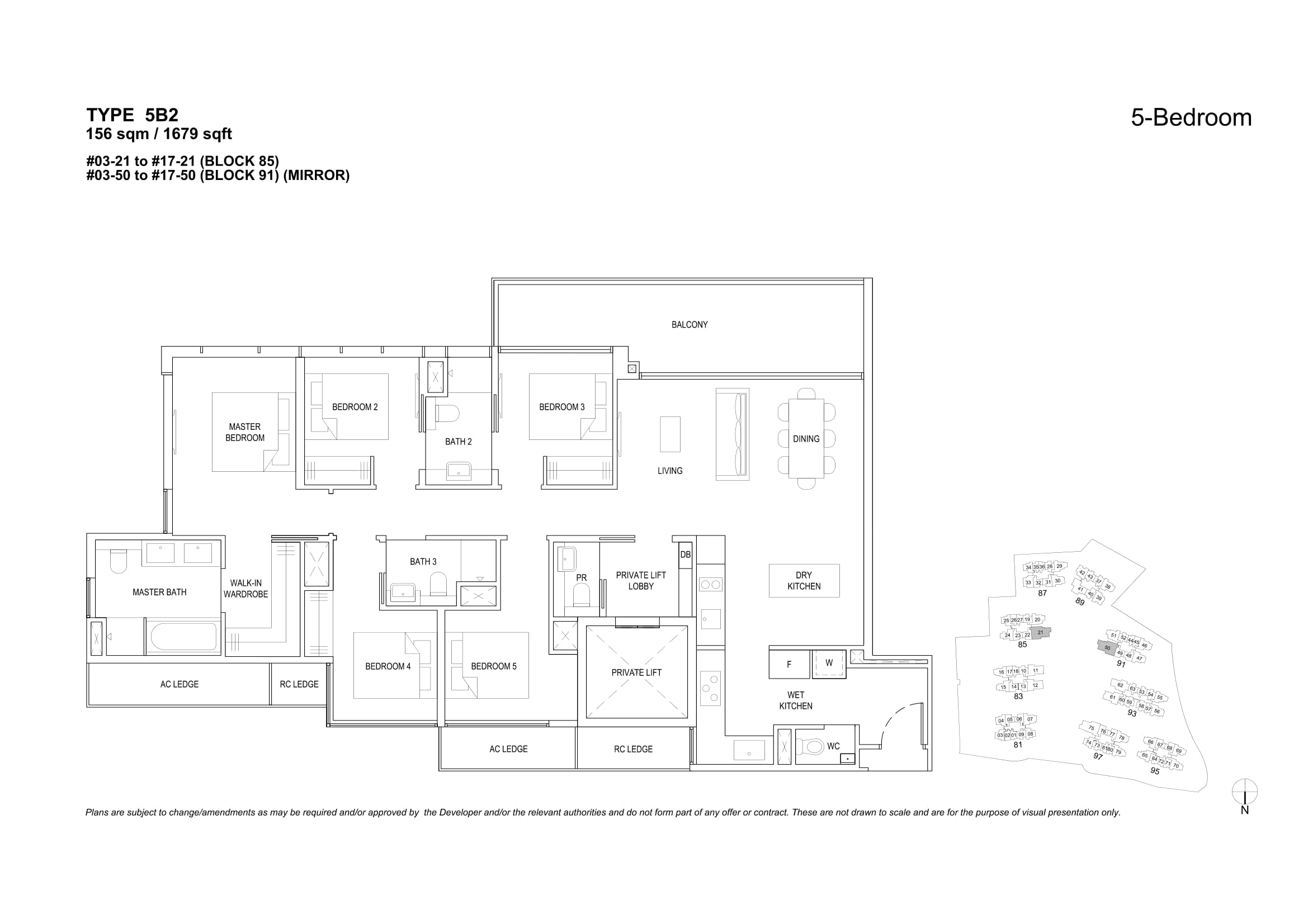 The Florence Residences' five-bedroom types