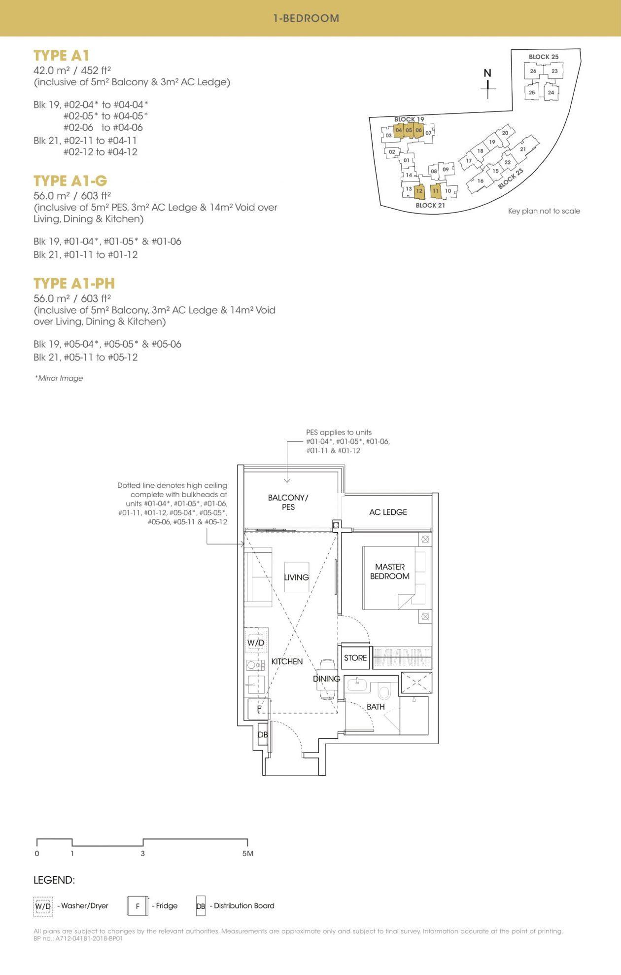 The Antares one-bedroom floor plan