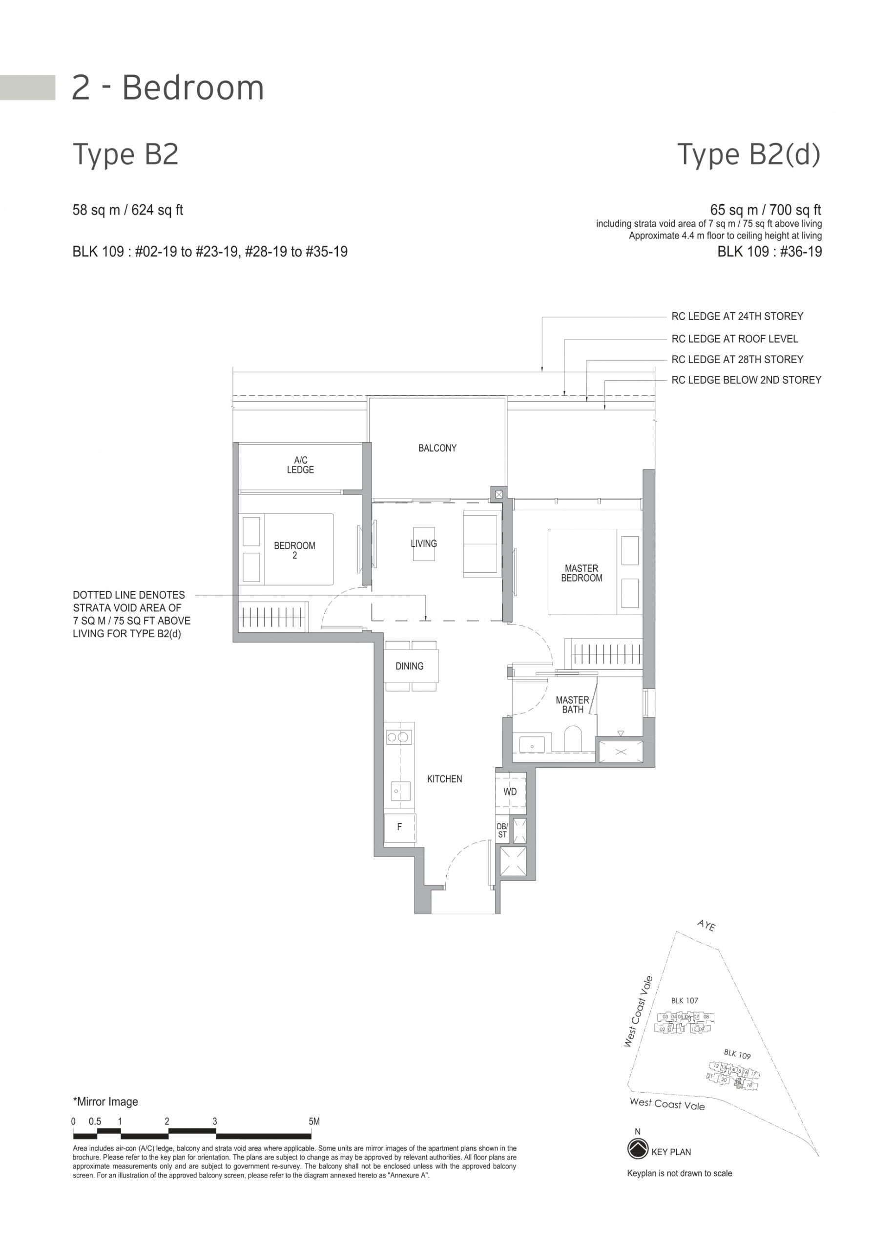 Whistler Grand's two-bedroom types