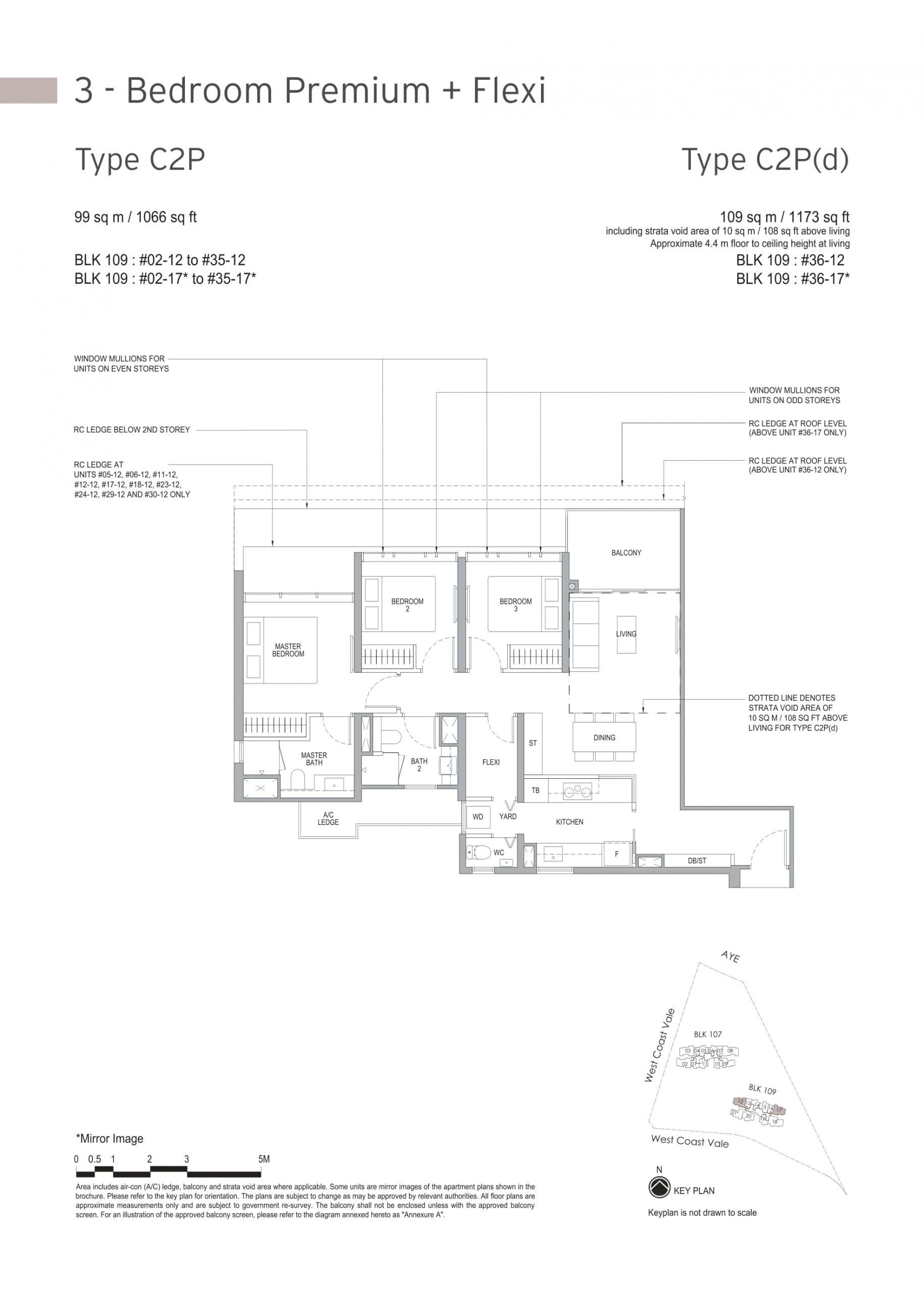 Whistler Grand's three-bedroom & three-bedroom premium + flexi types