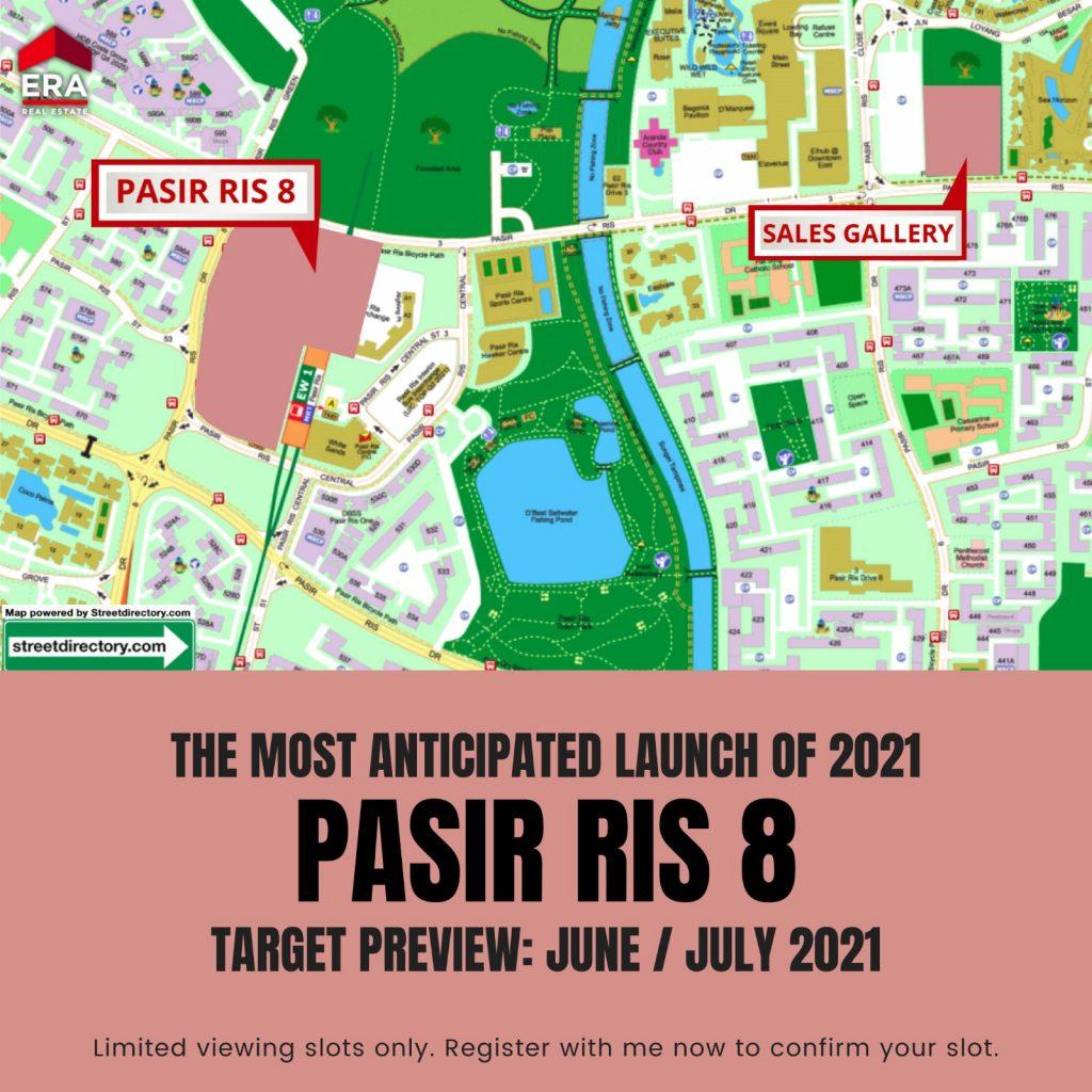 Pasir Ris 8 Showflat location