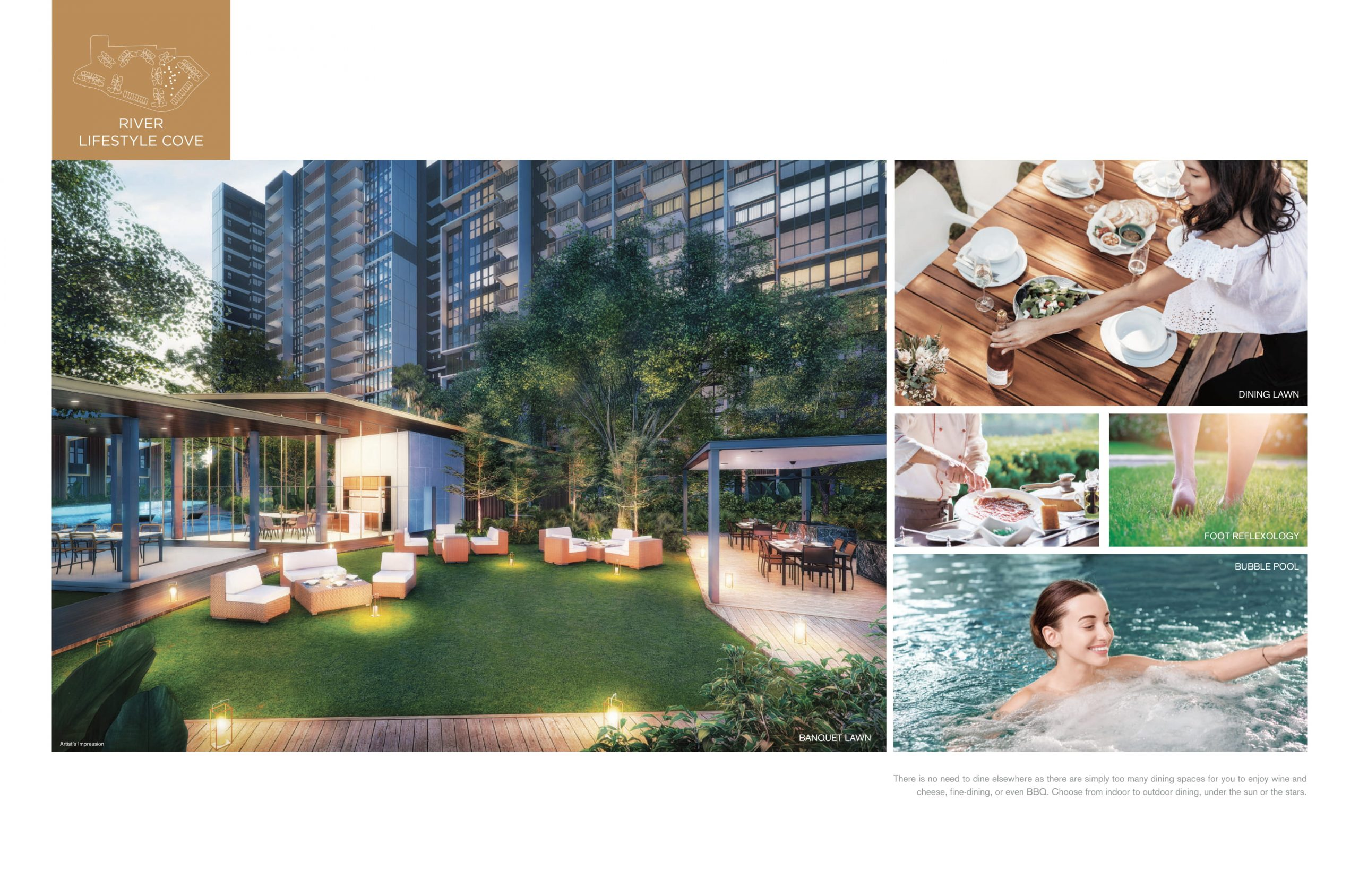The Riverfront Residences facilities