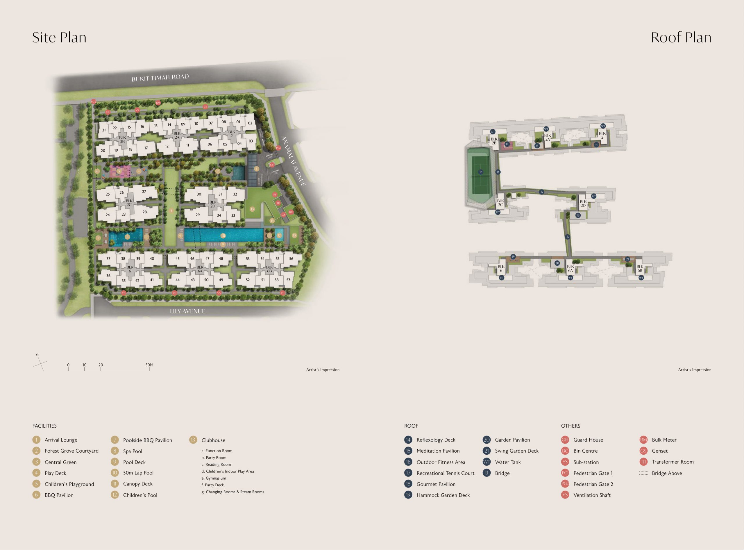 Royalgreen's site plan and unit distribution