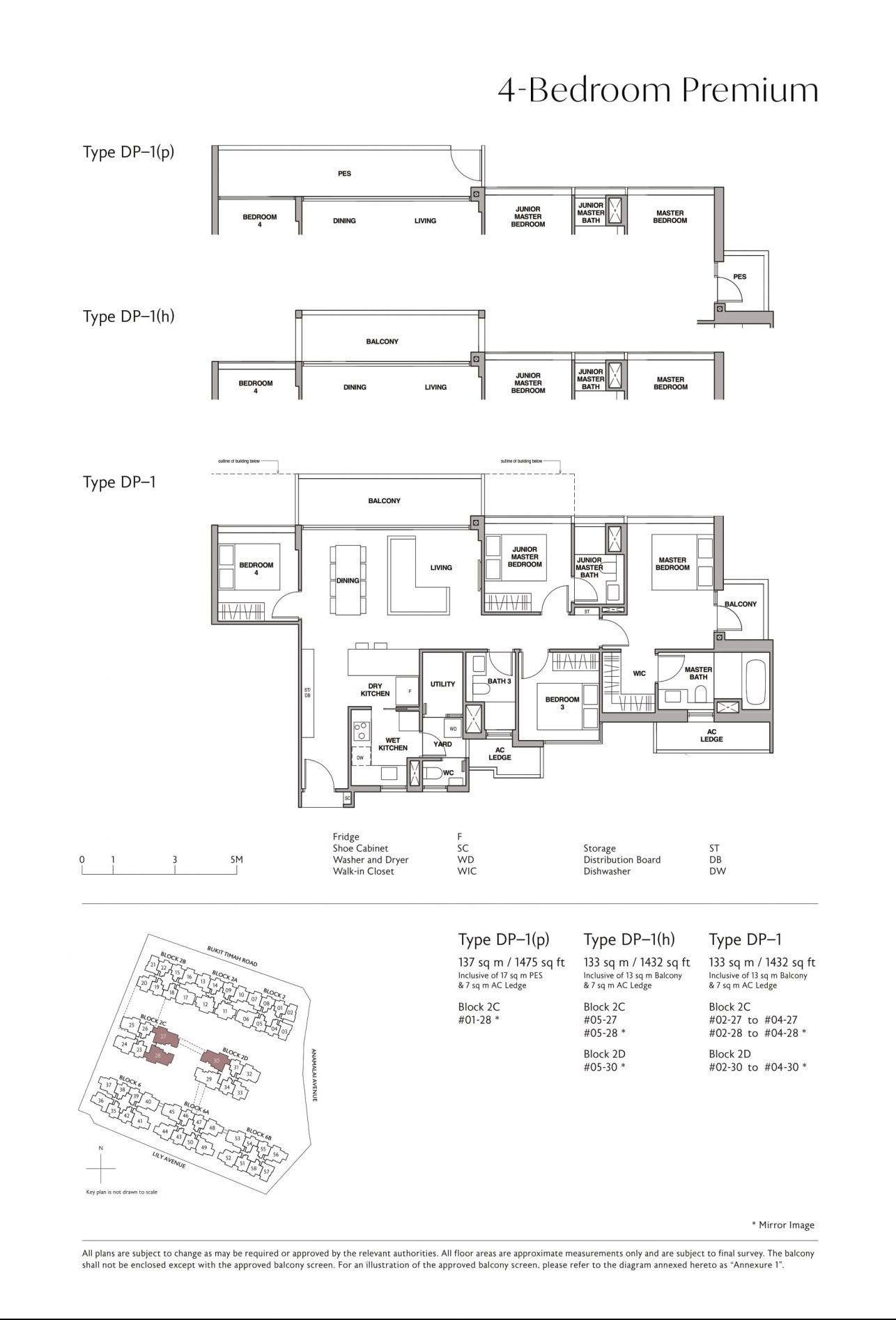 Royalgreen's four-bedroom premium & four-bedroom + study types